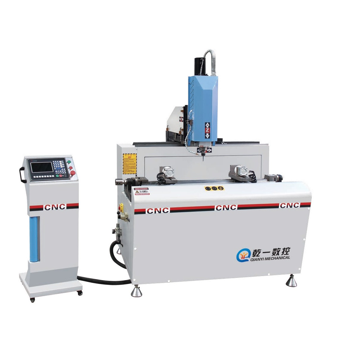 SKX3+1-CNC-800 铝型材3+1轴数控钻铣床(伺服步进可定制)
