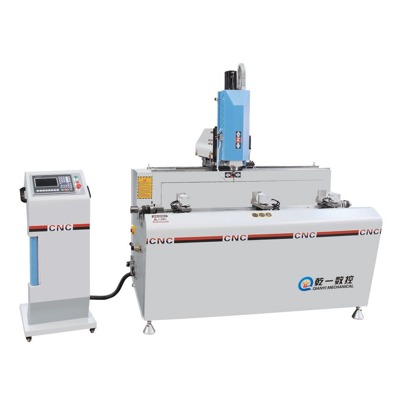 SKX3+1-CNC-1200 铝型材3+1轴数控钻铣床(伺服步进可定制)
