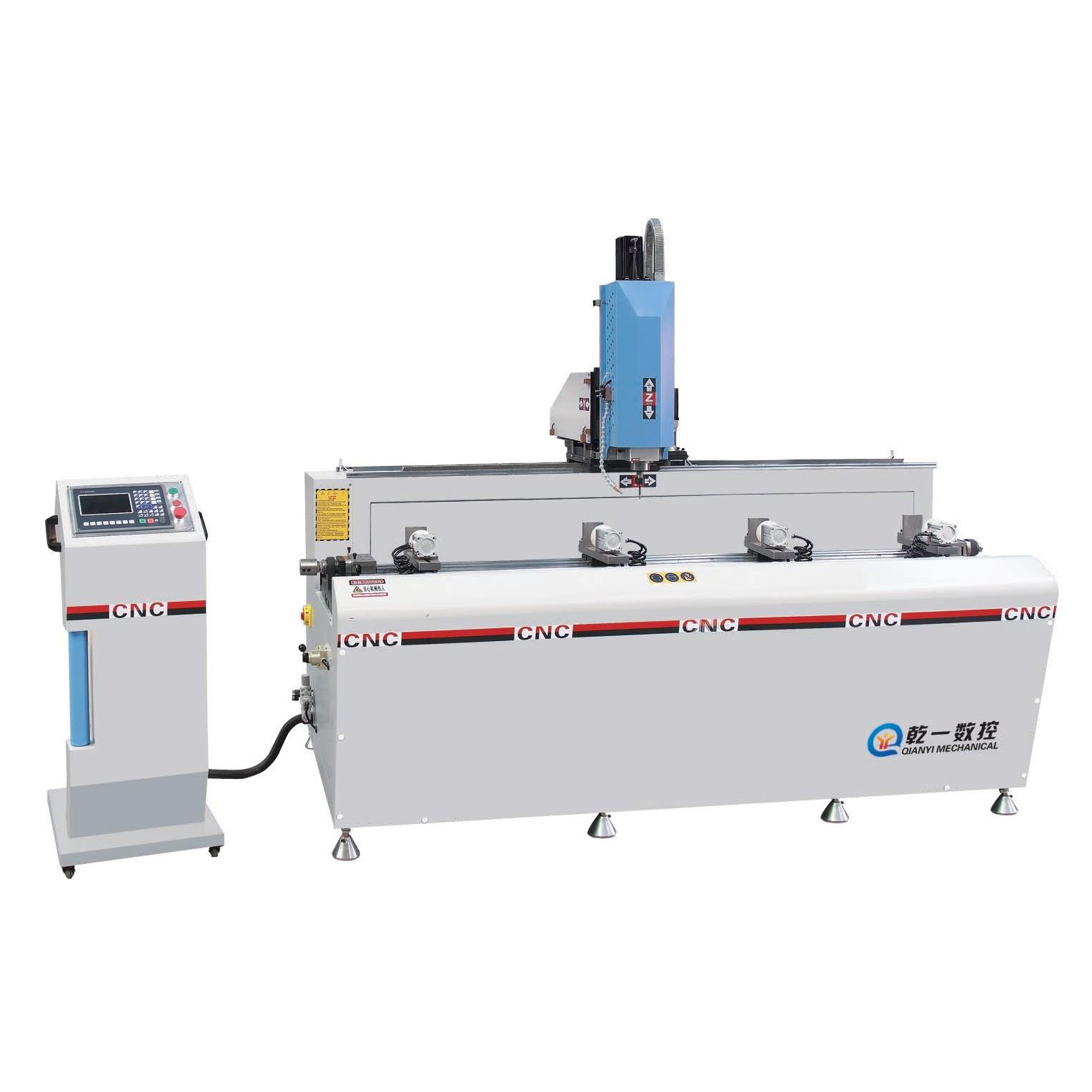SKX3+1-CNC-3000 铝型材3+1轴数控钻铣床